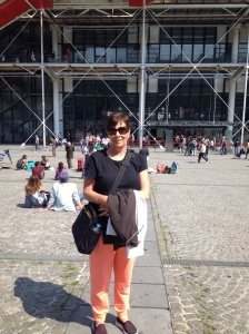 Sue outside Pompidou