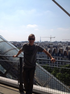 top of Pompidou. Eiffel in background.