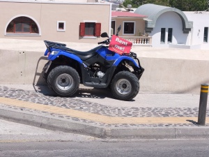 vehicle of choice on Santorini.